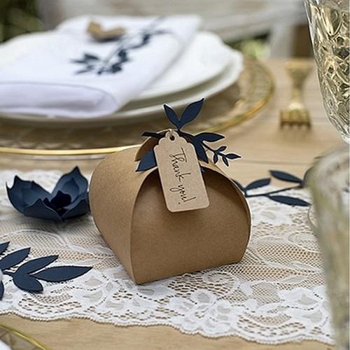 PUDEŁECZKA na wesele podziękowania z zawieszkami Rustykalne 10szt