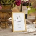NUMEREK na stół wesele z imionami Jesienne Wrzosy