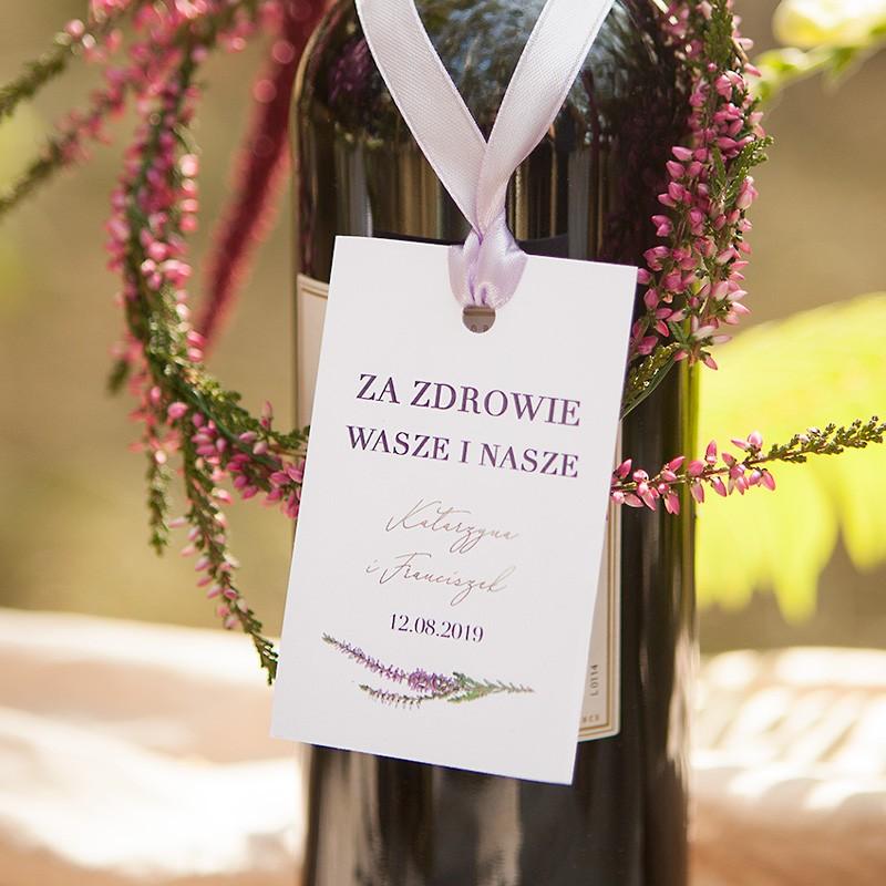 ZAWIESZKA na alkohol personalizowana Jesienne Wrzosy