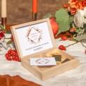 PODZIĘKOWANIE dla Świadkowej w drewnianym pudełku Kolekcja Miedziana