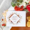 KSIĘGA GOŚCI weselnych z imionami Barwy Jesieni