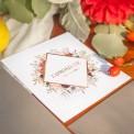 ZAPROSZENIE ślubne Kolekcja Miedziana (+koperta z wnętrzem+naklejka)