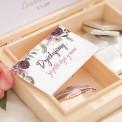 PODZIĘKOWANIE dla Świadkowej w drewnianym pudełku DreamCatcher