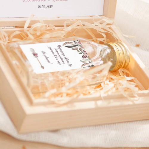 PODZIĘKOWANIE dla Świadka w drewnianym pudełku KACÓWKA DreamCatcher