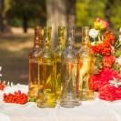 BUTELKI szklane wazony/świeczniki WYSOKIE 30cm 5szt MIX KOLORÓW