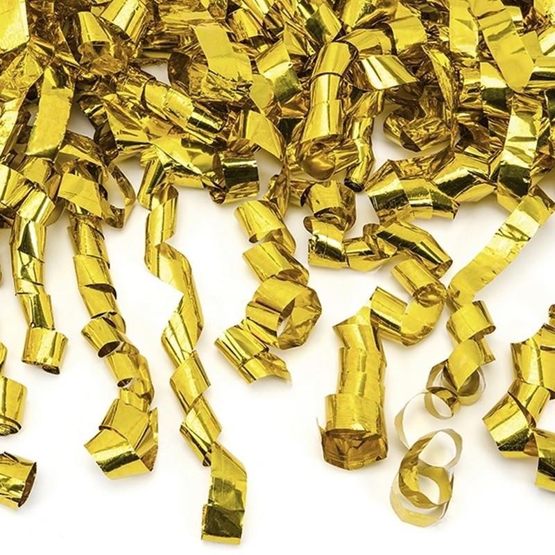KONFETTI WYSTRZAŁOWE złote serpentyny MEGA TUBA 60cm