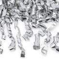 KONFETTI WYSTRZAŁOWE srebrne serpentyny MEGA TUBA 60cm