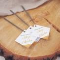 ZIMNE ognie personalizowane Iskierki Miłości 16cm 10szt (+bileciki personalizowane)