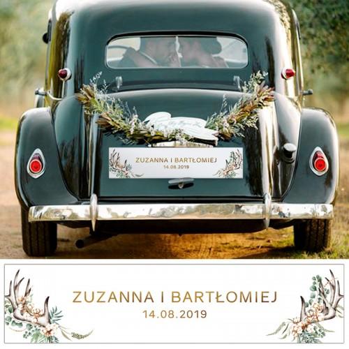TABLICE rejestracyjne ślub Z NADRUKIEM Wild Nature