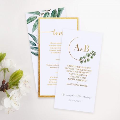 BILECIKI/WKŁADKI do zaproszeń personalizowane