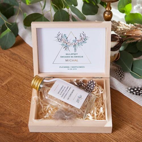 PODZIĘKOWANIE dla Świadka w drewnianym pudełku KACÓWKA Wild Nature