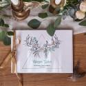 KSIĘGA GOŚCI weselnych z imionami Wild Nature (+wstążka złota satynowa)