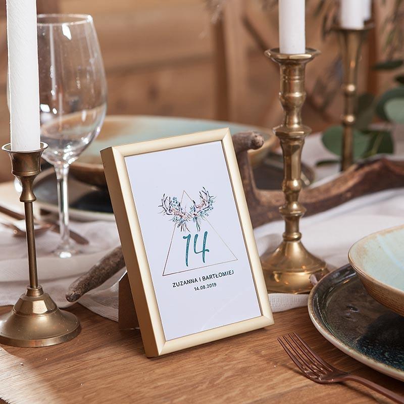 NUMEREK na stół wesele z imionami Wild Nature