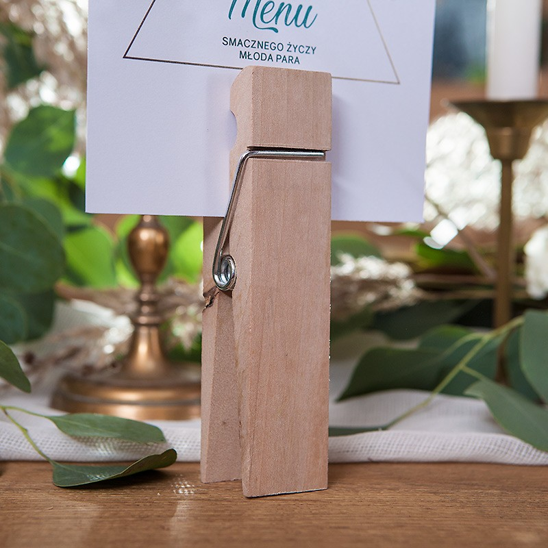 KLAMERKA na menu weselne OGROMNA 15cm