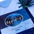 ZAPROSZENIE ślubne To The Moon (+koperta z wnętrzem+naklejka)