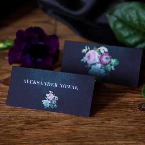 WINIETKA ślubna z nadrukiem Flora Dark