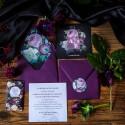 ZAPROSZENIE ślubne Flora Dark (+koperta z wnętrzem+naklejka)