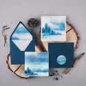 ZAPROSZENIE ślubne Snowy Forest (+koperta z wnętrzem+naklejka)