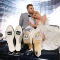 NAKLEJKI na buty ślubne ZABAWNE 2szt