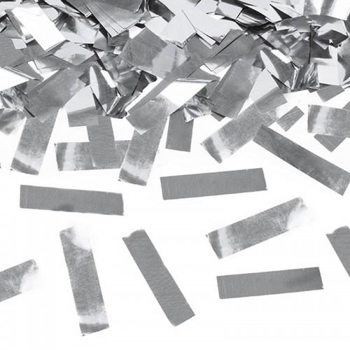 KONFETTI WYSTRZAŁOWE metaliczne paski SREBRNE