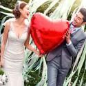 BALON foliowy Serce ślub wesele 61cm CZERWONY