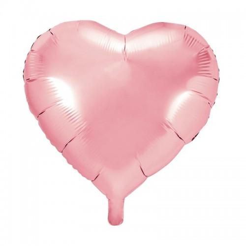 BALON foliowy Serce ślub wesele 45cm JASNORÓŻOWY