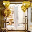 BALON foliowy Serce ślub wesele 45cm ZŁOTY