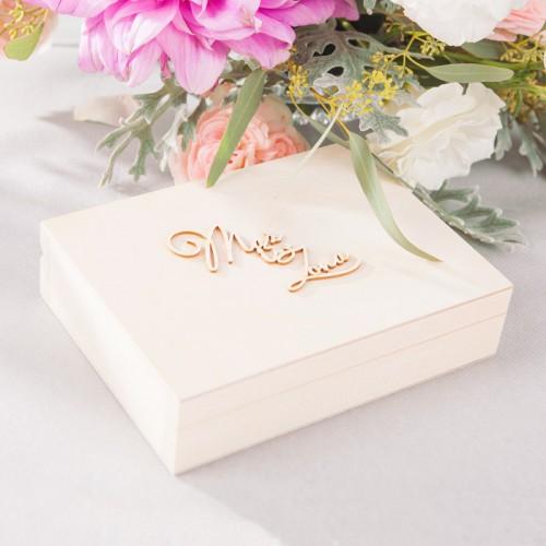 PUDEŁKO na obrączki drewniane Flowers&Stripes Z IMIONAMI