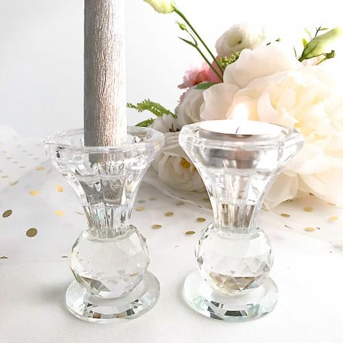 ŚWIECZNIK na tealight i prostą świecę 2w1 a'la kryształowy LUX