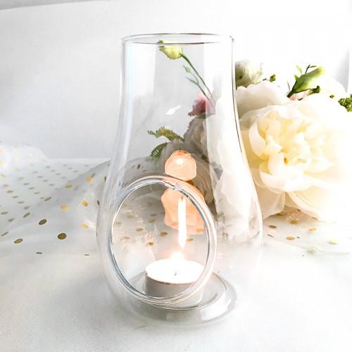 LAMPION latarenka na tealight i do aranżacji 16cm SOLIDNE SZKŁO