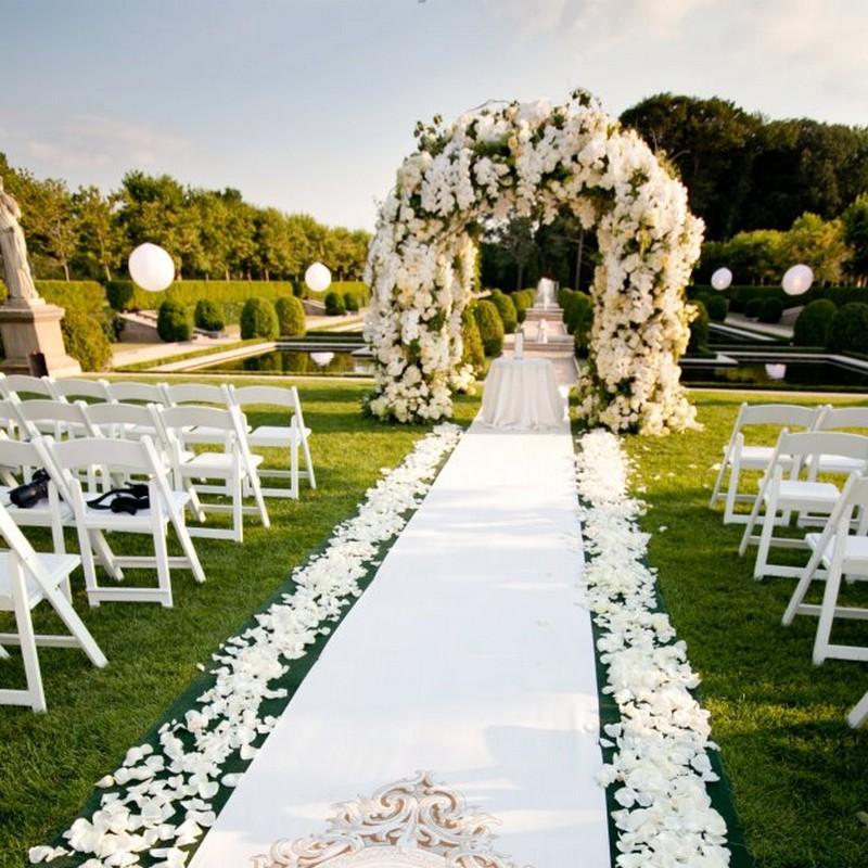 PŁATKI róż dekoracyjne ślub BIAŁE 500szt