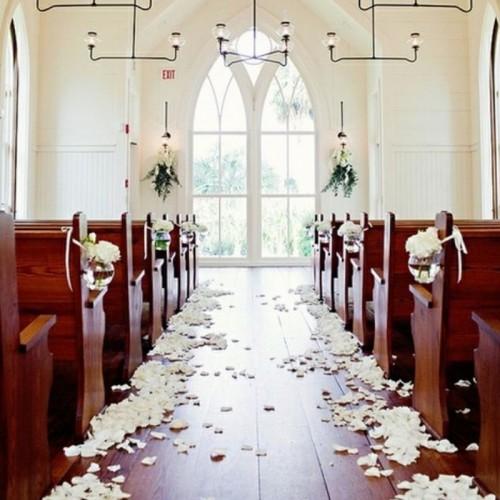 PŁATKI róż dekoracyjne ślub 500szt KREMOWE