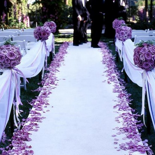 PŁATKI róż dekoracyjne ślub 500szt FIOLETOWE OSTATNIA PACZKA