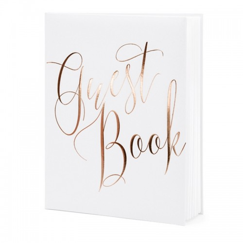 KSIĘGA GOŚCI weselnych Guest Book napis ROSEGOLD