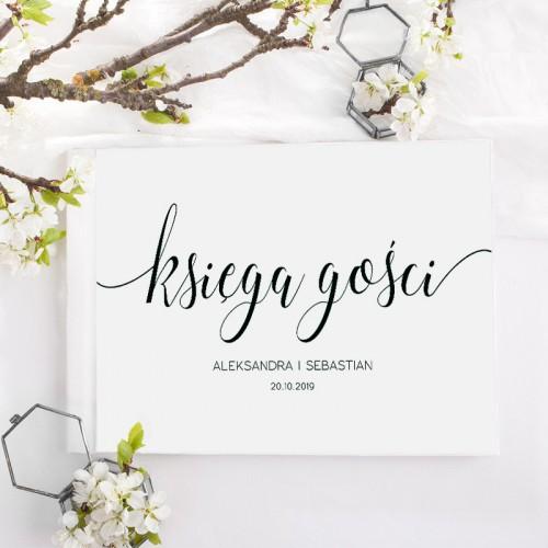 KSIĘGA GOŚCI weselnych z imionami Black&White