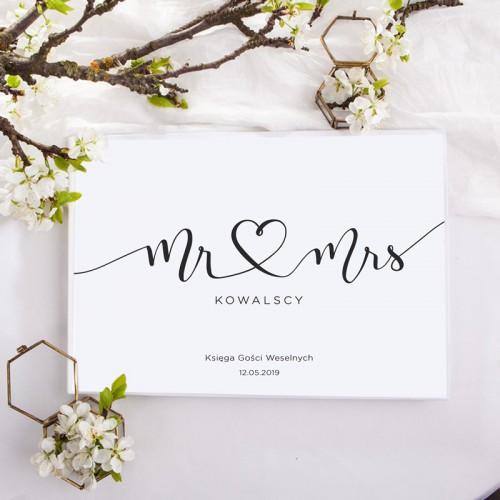 KSIĘGA GOŚCI weselnych z imionami Mr&Mrs