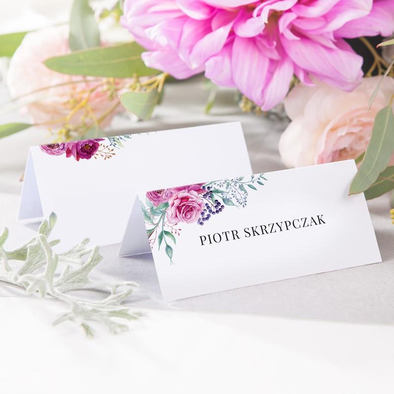 WINIETKA wizytówka z nadrukiem Kwiaty