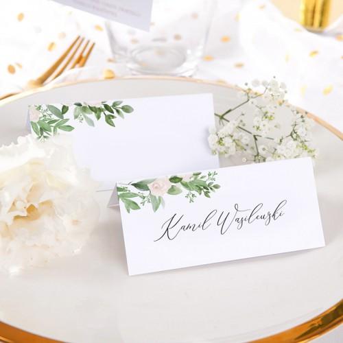 WINIETKA wizytówka z nadrukiem Białe Kwiaty