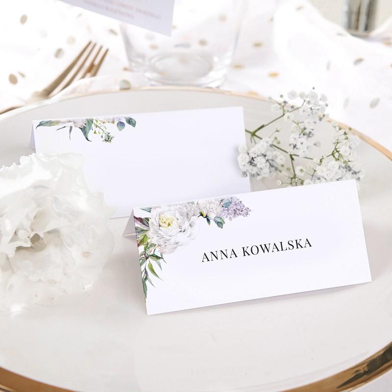 WINIETKA ślubna z nadrukiem Kwiaty Vintage