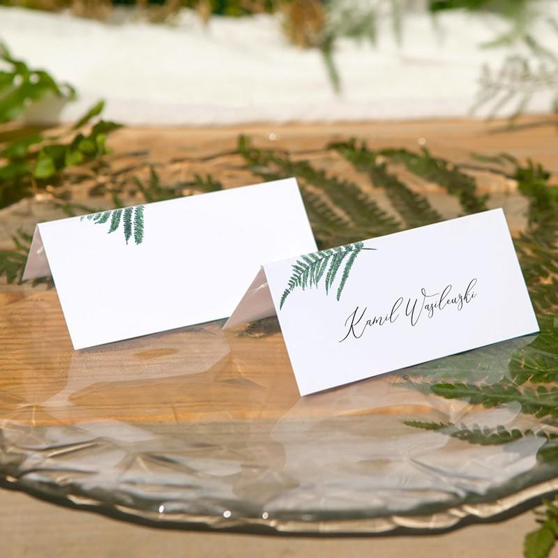 WINIETKA ślubna z nadrukiem Fern