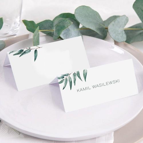 WINIETKA ślubna z nadrukiem Green Leaf