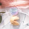 CIASTECZKO z wróżbą Pink&Grey (+etykieta z imieniem)