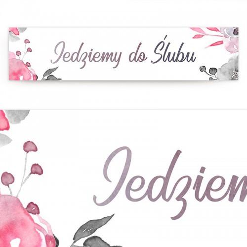 TABLICA rejestracyjna personalizowana Pink&Grey
