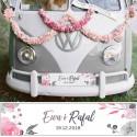 TABLICE rejestracyjne ślub Z NADRUKIEM Pink&Grey