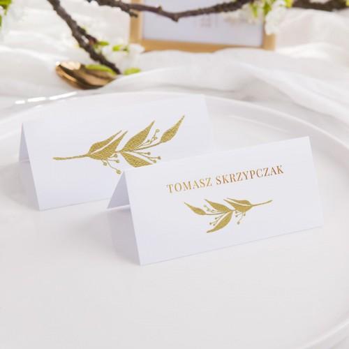 WINIETKA ślubna z nadrukiem Złoty Liść