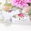 WINIETKA wizytówka z nadrukiem Flowers&Stripes II WERSJA