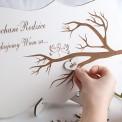 PODZIĘKOWANIE dla Rodziców drewniane Drzewo (+serduszka)