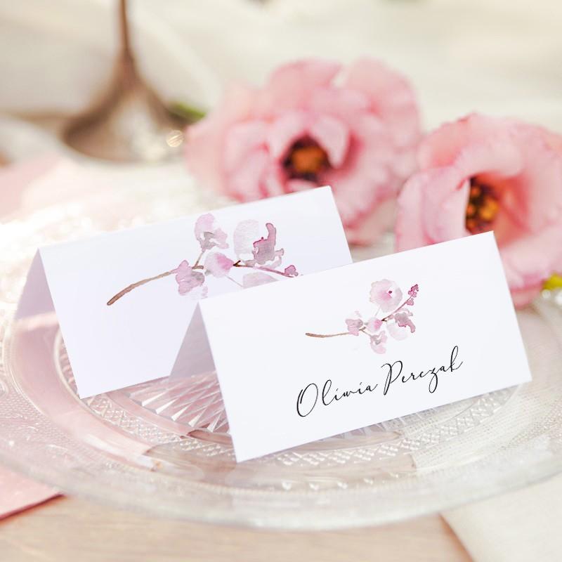 WINIETKA ślubna z nadrukiem Pink Blossom