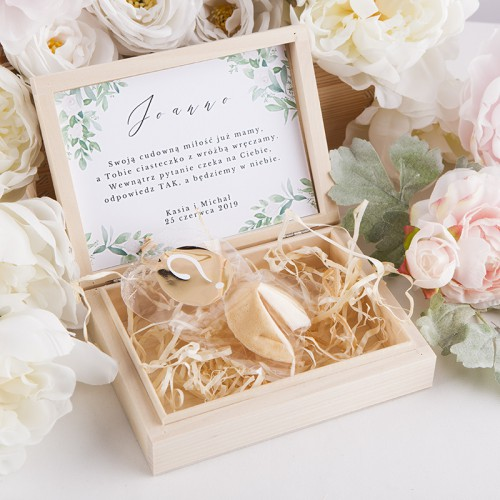 PUDEŁKO Czy będziesz naszą Świadkową CIASTECZKO Delikatne Kwiaty