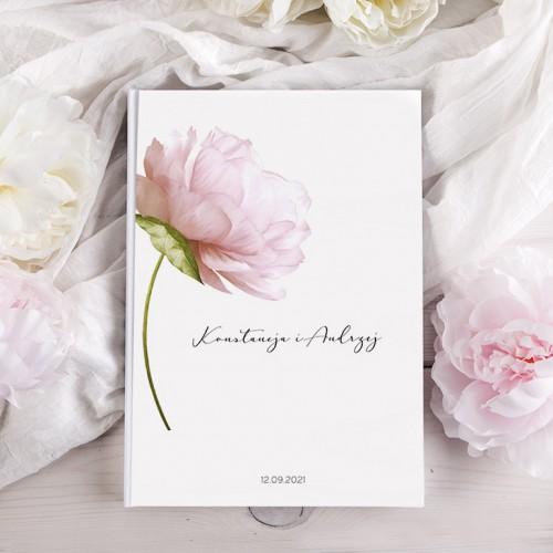 KSIĘGA gości weselnych Z IMIONAMI Romantyczna Piwonia PION 200 stron